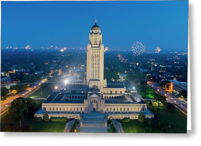 Nebraska State Capitol - July 4th Greeting Card