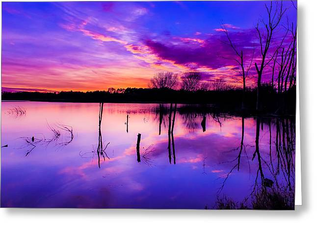 Nebraska Sunset Greeting Card by Mike Benkis