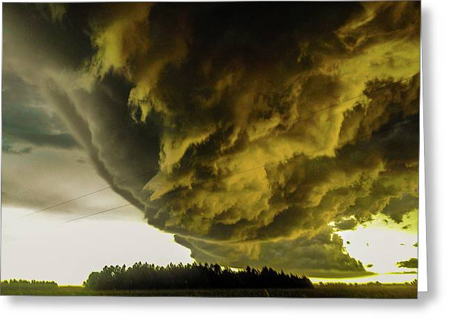 Nebraska Supercell, Arcus, Shelf Cloud, Remastered 018 Greeting Card