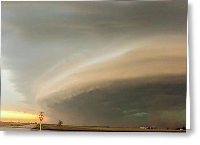 Nebraska Thunderstorm Eye Candy 020 Greeting Card