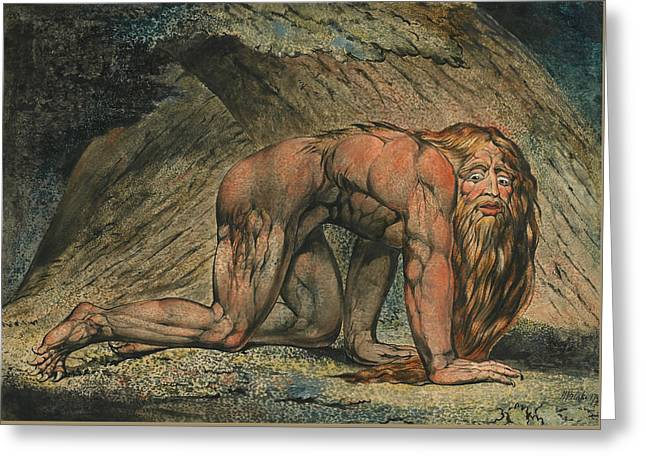 Nebuchadnezzar Greeting Card by William Blake