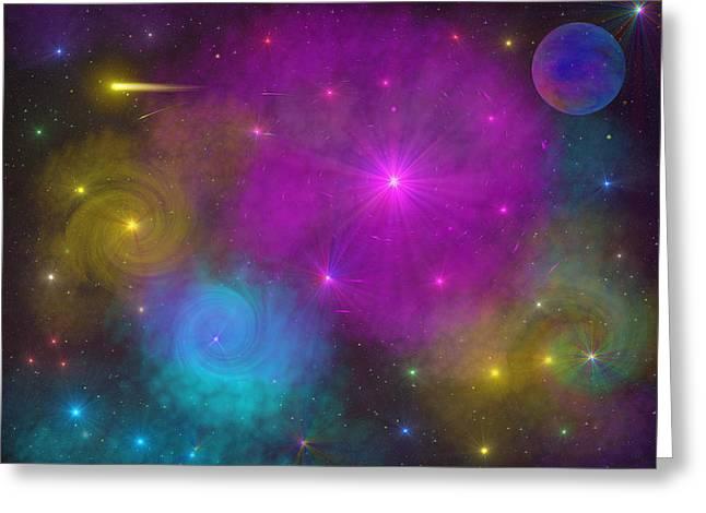 Greeting Card featuring the photograph Nebula Wars by Bernd Hau