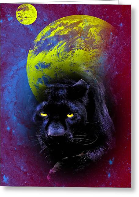 Nebula's Panther Greeting Card