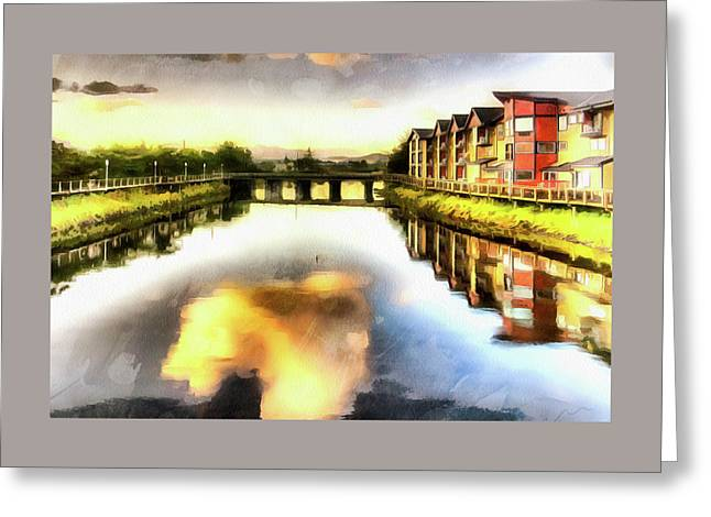 Greeting Card featuring the photograph Necanium River Seaside by Thom Zehrfeld