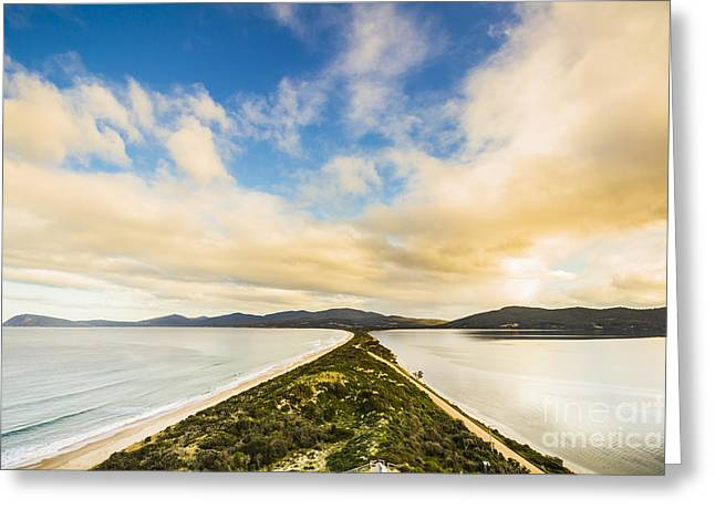 Neck Of Bruny Island Greeting Card by Jorgo Photography - Wall Art Gallery