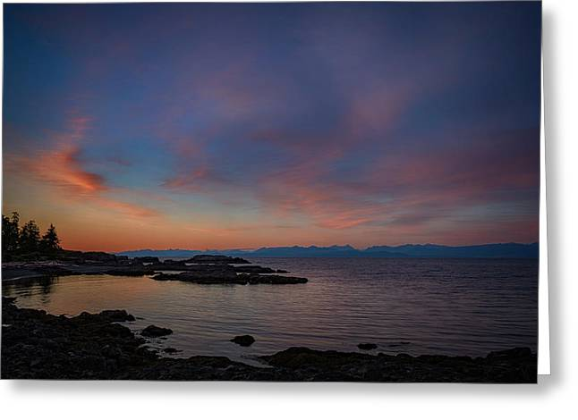 Neck Point Sunset Greeting Card