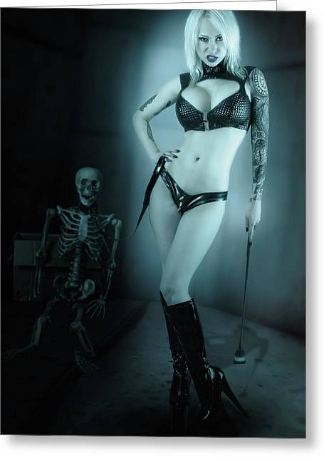 Necrodomina Greeting Card by SGH Photoart