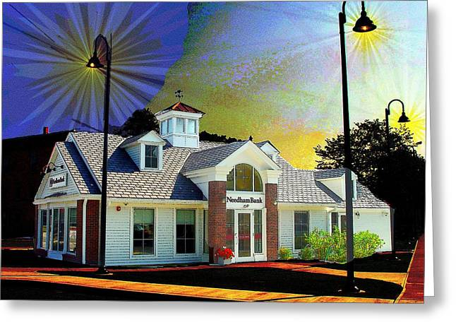 Needham Bank Ashland Ma Greeting Card