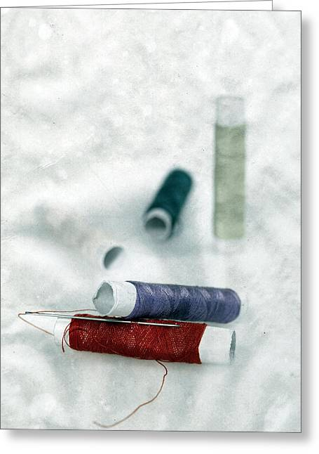 Needle And Thread Greeting Card by Joana Kruse