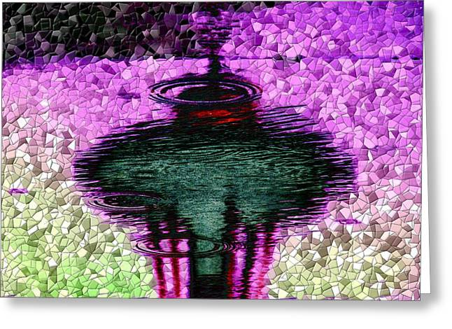 Needle In A Raindrop Stack 3 Greeting Card by Tim Allen