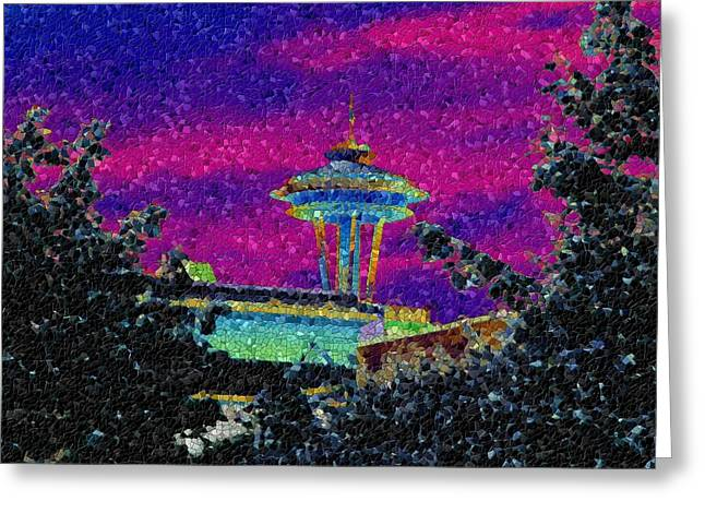 Needle In Mosaic 2 Greeting Card by Tim Allen