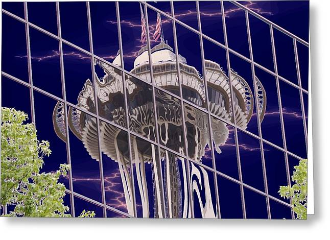 Needle Reflection Greeting Card by Tim Allen