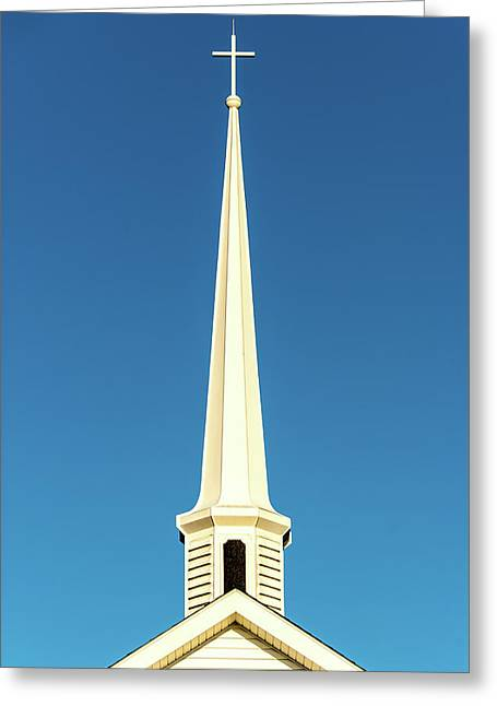 Needle-shaped Steeple Greeting Card