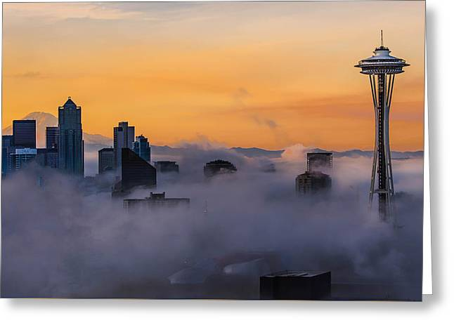 Greeting Card featuring the photograph Needling The Fog by Kevin McClish