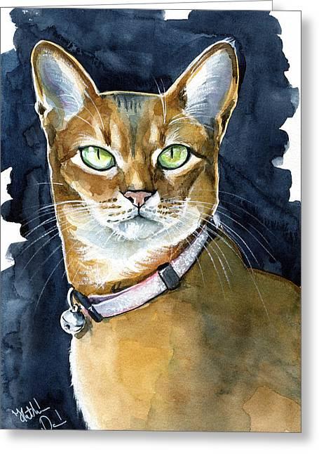 Nefertiti - Abyssinian Cat Portrait Greeting Card