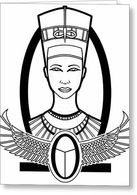Nefertiti Greeting Card by Alysa Sheats