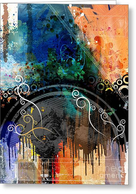Negative Thoughts Invasion Greeting Card by Bedros Awak
