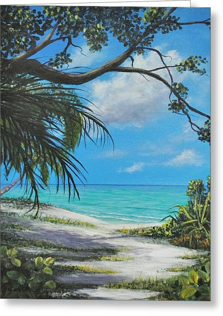 Negril Footpath Greeting Card