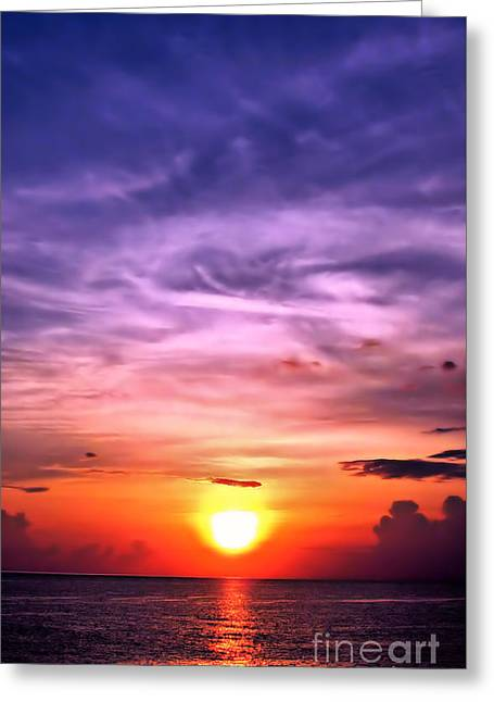 Negril Sunset Greeting Card