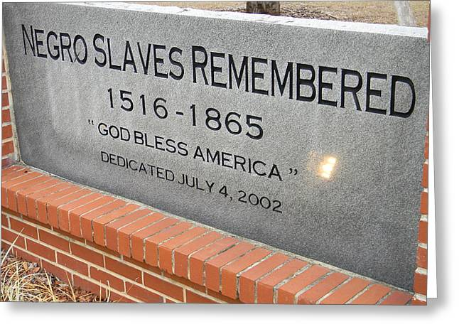 Negro Slaves Remembered Greeting Card by Warren Thompson