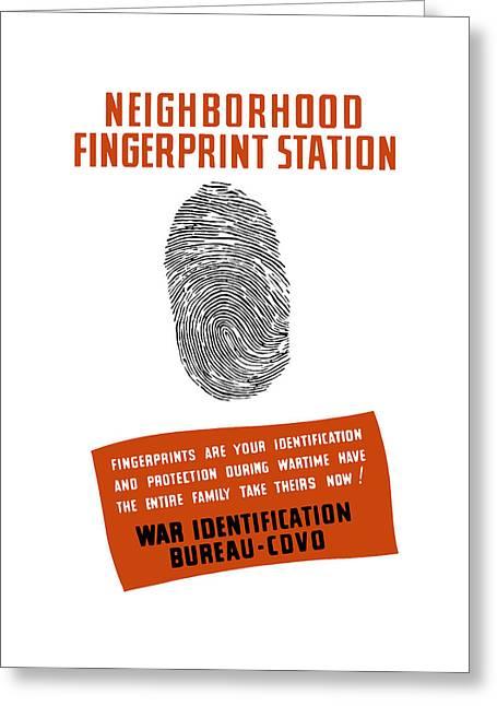 Neighborhood Fingerprint Station Greeting Card