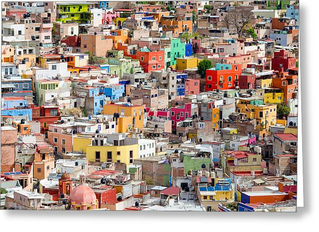 Greeting Card featuring the photograph Neighbourhood. Guanajuato Mexico. by Rob Huntley