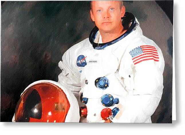 Neil Armstrong Greeting Card by Ericamaxine Price