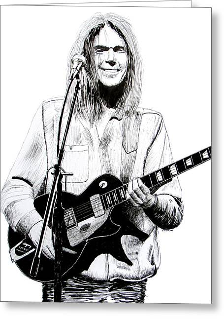 Neil Young 1972 Greeting Card