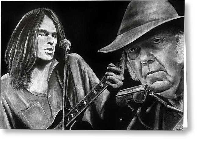 Neil Young And Neil Old Greeting Card