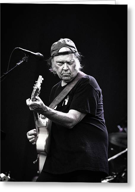 Neil Young Greeting Card by Anna Webber