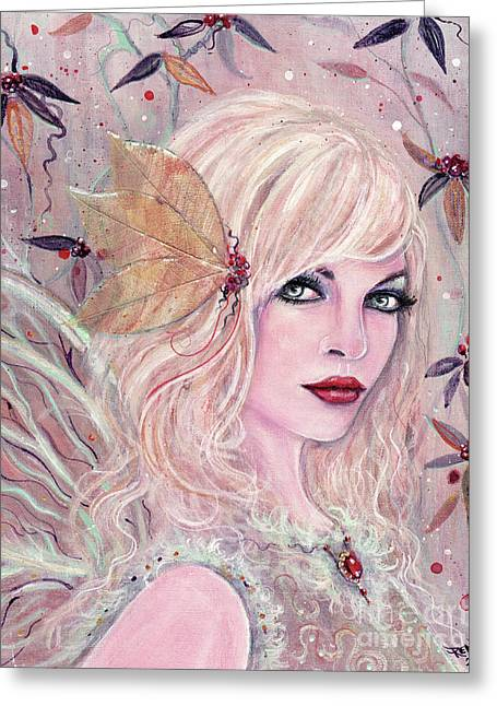 Neira Winter Fairy Greeting Card by Renee Lavoie