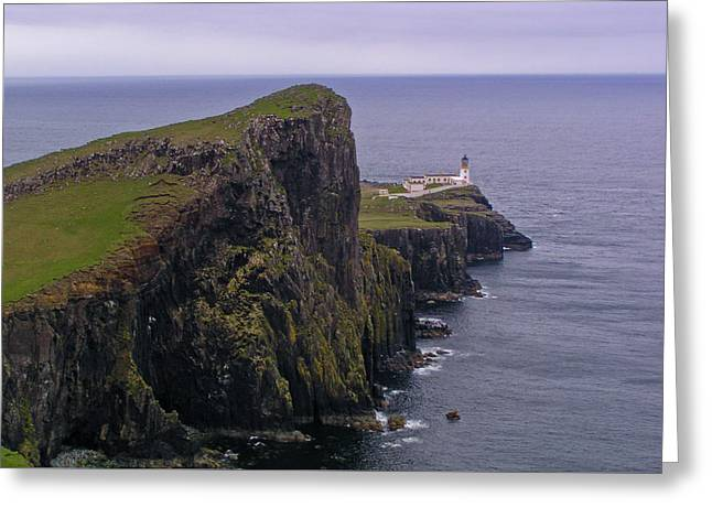 Neist Point Lighthouse Greeting Card by Bruce