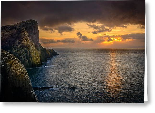 Neist Point Lighthouse Isle Of Skye Greeting Card