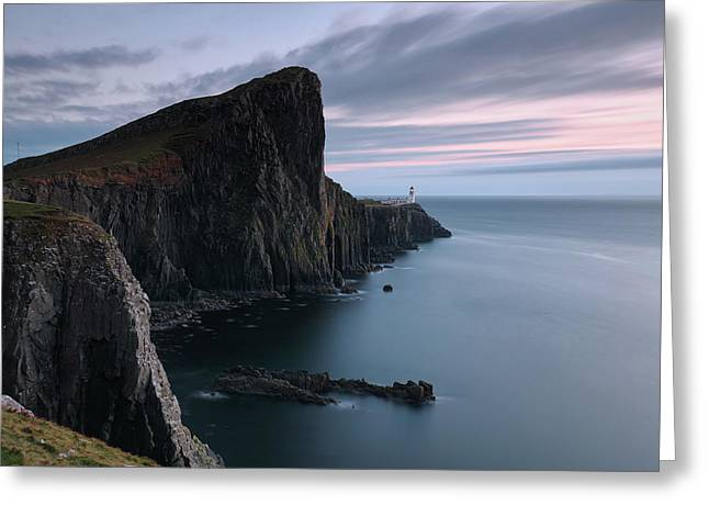 Greeting Card featuring the photograph Neist Point Sunset - Isle Of Skye by Grant Glendinning