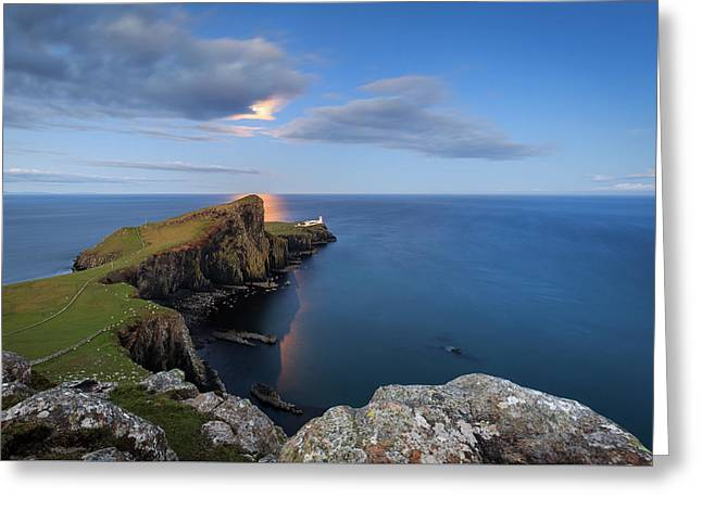 Neist Point Under The Moonlight Greeting Card
