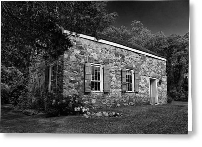 Neldon - Roberts Stonehouse Montague New Jersey Black And White Greeting Card
