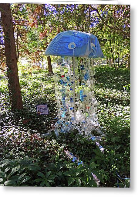 Nelly The Jelly Scarecrow At Cheekwood Botanical Gardens Greeting Card