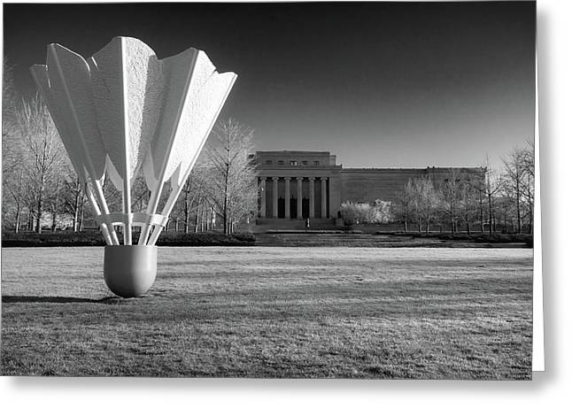 Nelson Atkins Art Museum In Infrared - Kansas City Greeting Card