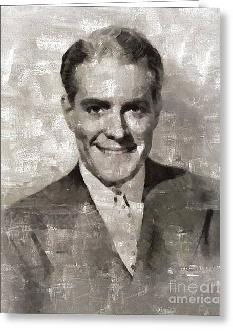 Nelson Eddy, Vintage Actor Greeting Card by Mary Bassett