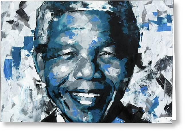Nelson Mandela II Greeting Card