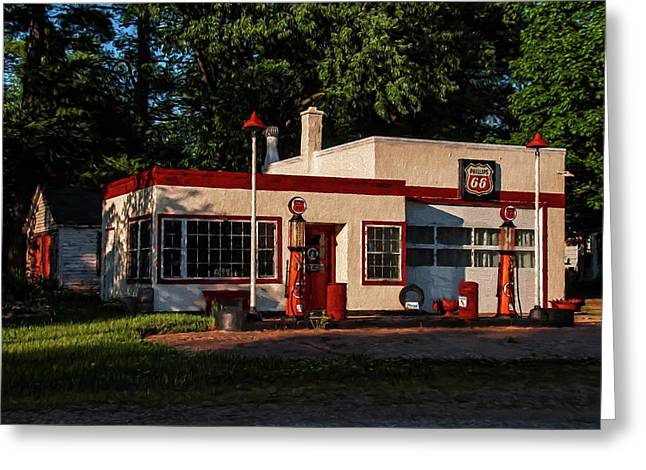 Nelsonville Phillips 66 Greeting Card by Trey Foerster