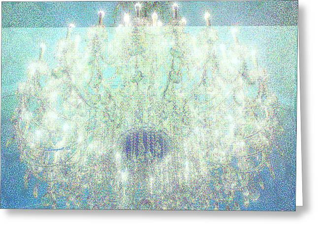 Nemacolin Chandelier Greeting Card by Shelly Weingart