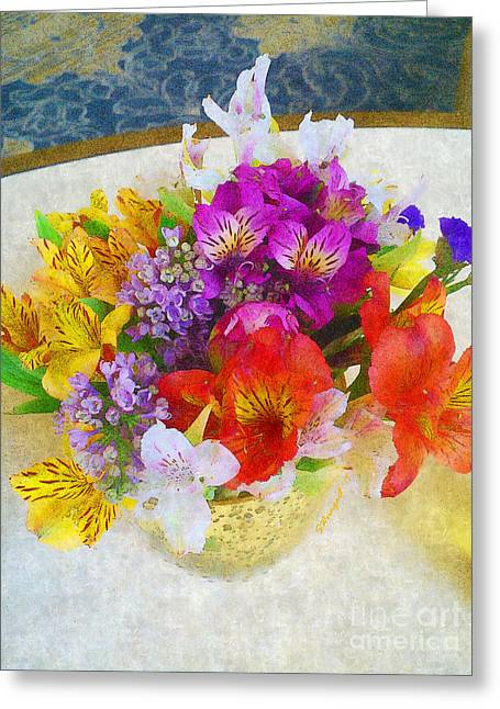 Nemacolin Spring Bouquet Greeting Card by Shelly Weingart