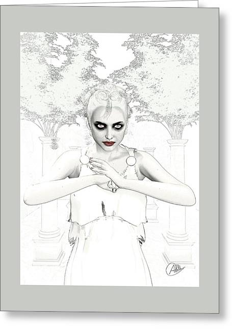 Nemesis The Envy Greeting Card by Quim Abella