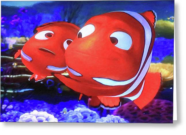 Nemo And Dad Greeting Card by Donna Kennedy