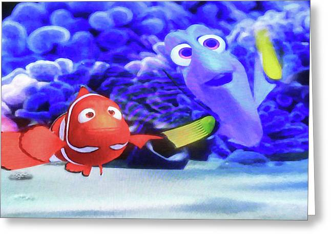 Nemo And Dory Greeting Card by Donna Kennedy