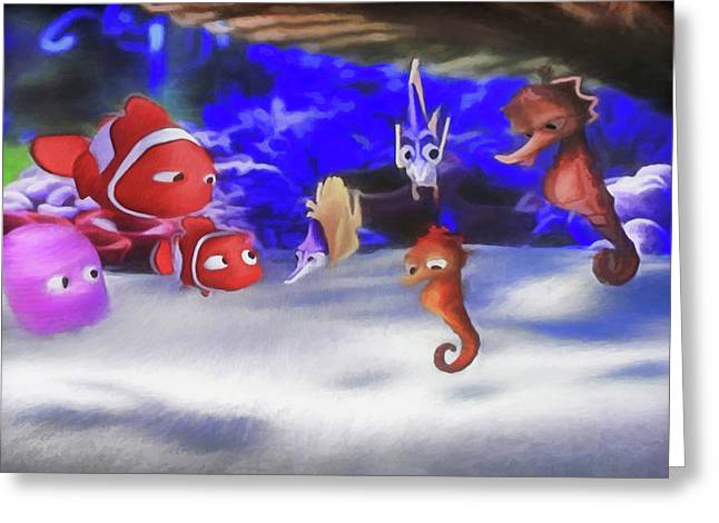 Nemo And Friends Greeting Card by Donna Kennedy