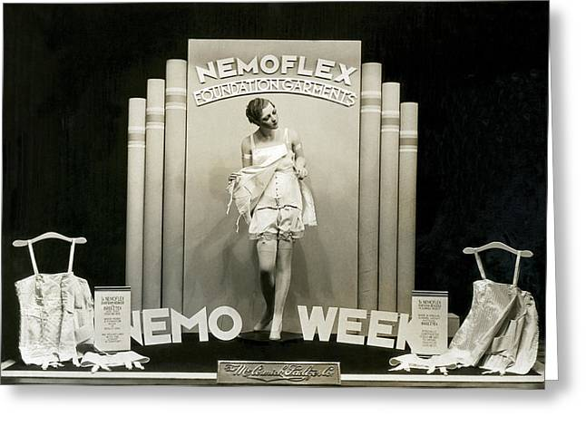 Nemoflex Foundation Garments Greeting Card by Underwood Archives