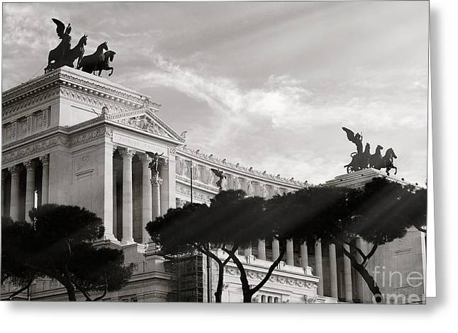 Neoclassical Architecture In Rome Greeting Card by Stefano Senise