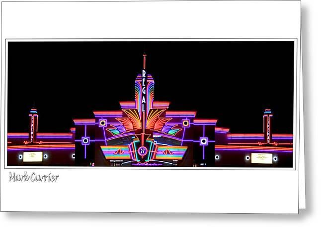 Neon Cinema Greeting Card